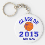 Class of 2015 Basketball Basic Round Button Key Ring