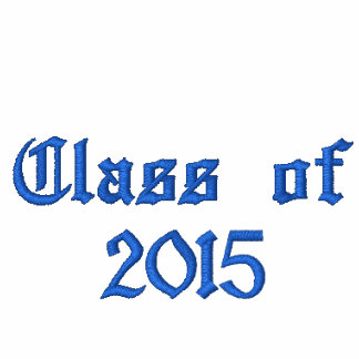 Class of 2015 - Black and Blue Embroidered Hoodie