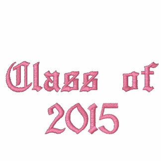 Class of 2015 - Black and Pink Embroidered Hooded Sweatshirts