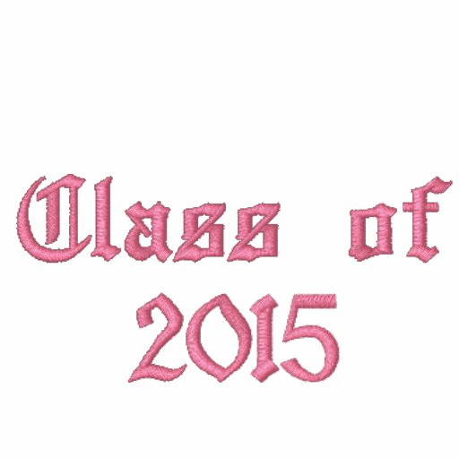Class of 2015 - Black and Pink Embroidered Hoody