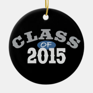 Class Of 2015 Blue Round Ceramic Decoration