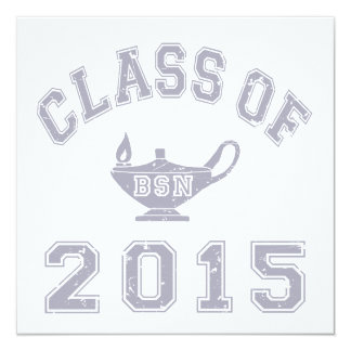 Class Of 2015 BSN 13 Cm X 13 Cm Square Invitation Card