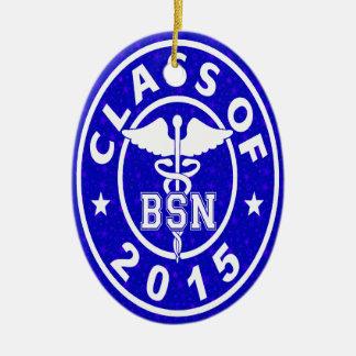 Class Of 2015 BSN Ceramic Oval Decoration
