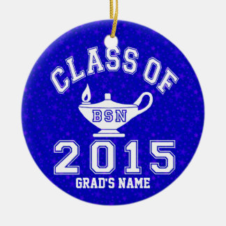 Class Of 2015 BSN Round Ceramic Decoration