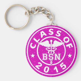 Class of 2015 BSN Basic Round Button Key Ring