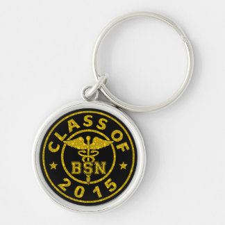 Class of 2015 BSN Silver-Colored Round Key Ring