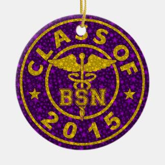 Class of 2015 BSN Round Ceramic Decoration