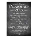 Class of 2015 chalkboard graduation party invite