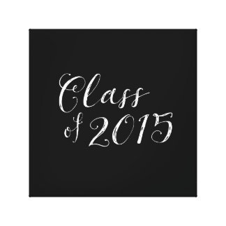 Class of 2015 Chalkboard Style Vintage Canvas Print