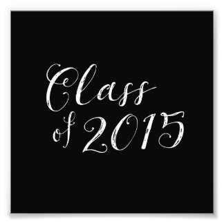 Class of 2015 Chalkboard Style Vintage Photo