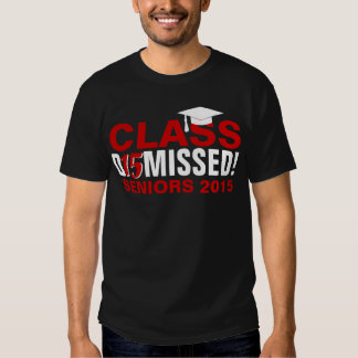 Class of 2015 Dismissed Red Graduation Tee Shirts