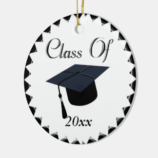 Class Of 2015 Graduation Cap Double-Sided Ceramic Round Christmas Ornament