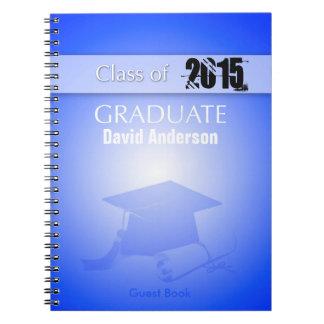 Class of 2015 - Graduation Guest Book in Blue Note Books