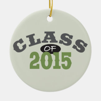 Class Of 2015 Green Round Ceramic Decoration