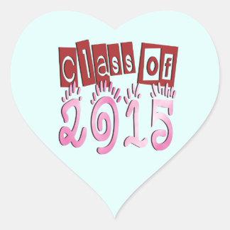 Class OF 2015 Heart Sticker