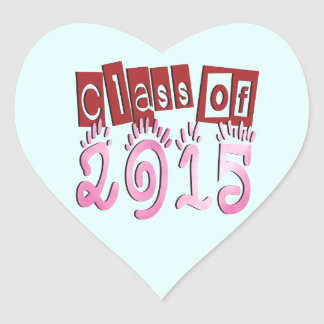Class OF 2015 Heart Stickers
