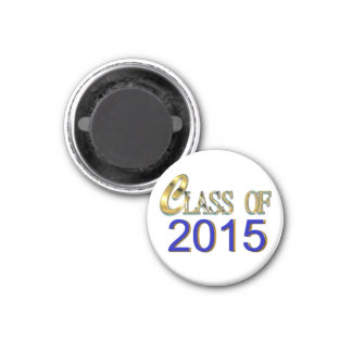 Class Of 2015 In Blue And Gold Graduation Magnet