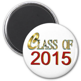 Class Of 2015 In Red And Gold Graduation Magnet