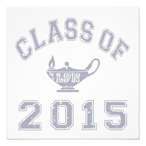 Class Of 2015 LPN - Grey 2 Custom Announcements