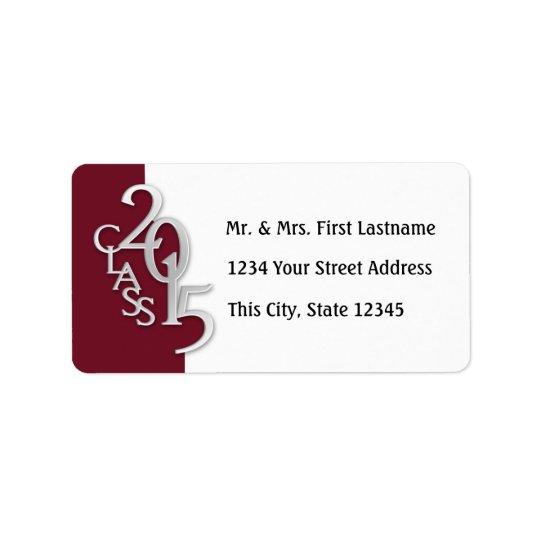Class of 2015 Maroon Graduation Address Label
