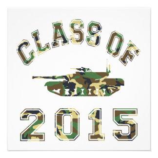Class Of 2015 Military School - Camo 2 Custom Invitations