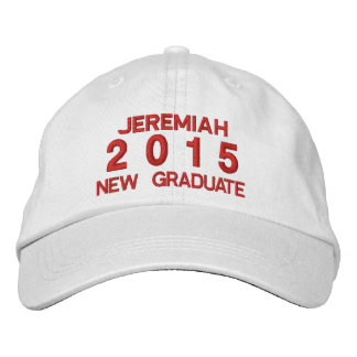 Class of 2015 or Any Year New Grad RED Text A04 Embroidered Hats
