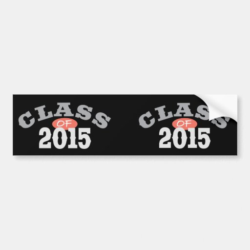 Class Of 2015 Peach Bumper Sticker
