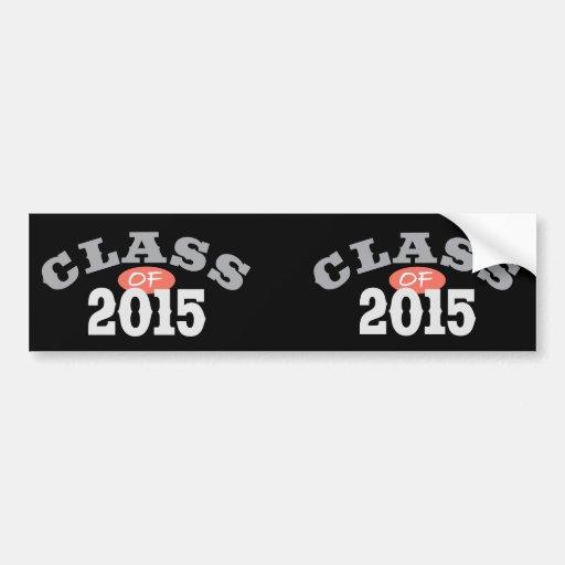 Class Of 2015 Peach Car Bumper Sticker