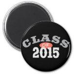 Class Of 2015 Peach Fridge Magnets