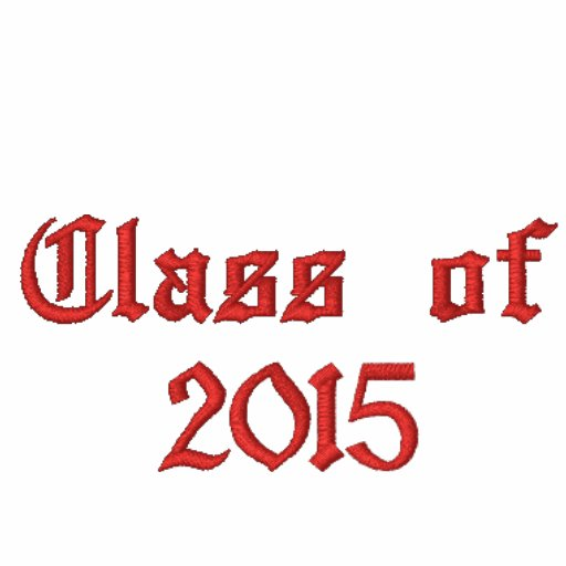 Class of 2015 - Red Embroidered Hoodie