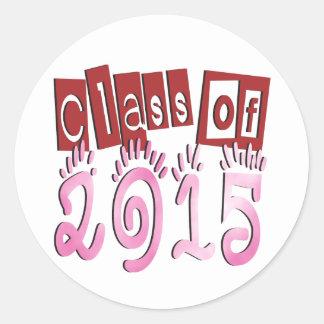Class OF 2015 Round Sticker