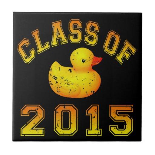 Class Of 2015 Rubber Duckie - Orange 2 Tile