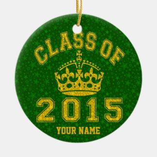 Class Of 2015 Rules Round Ceramic Decoration