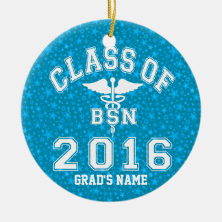 Class Of 2016 BSN Round Ceramic Decoration