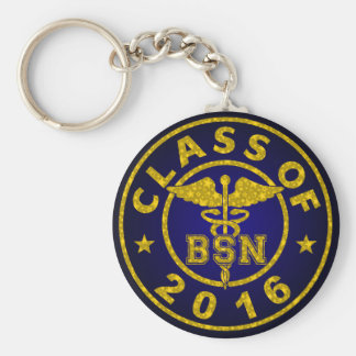 Class Of 2016 BSN Basic Round Button Key Ring