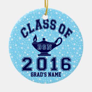 Class of 2016 BSN Round Ceramic Decoration