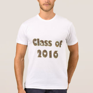 Class of 2016 Chic Gold Glitter Hearts Typography T-Shirt