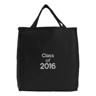 Class of 2016 Custom Embroidered Bag Black White