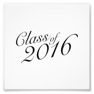 Class of 2016 Elegant Vintage Style Graduation Photo Art