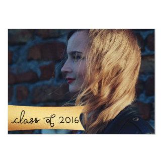 Class Of 2016 Faux Gold Foil Graduate Photo 13 Cm X 18 Cm Invitation Card