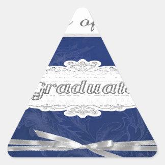Class of 2016, Graduate, Cap On Pretty Banner, Bow Triangle Sticker