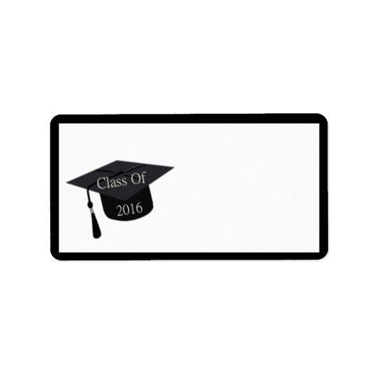 Class Of 2016 Graduation Cap Address Label