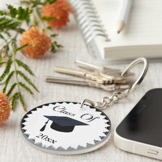 Class Of 2016 Graduation Cap Single-Sided Round Acrylic Key Ring