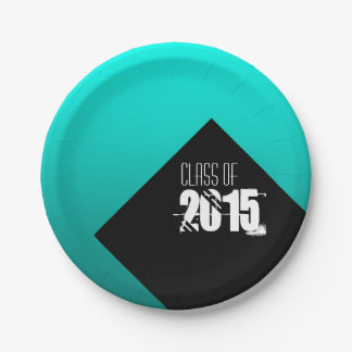 Class of 2016 Graduation Customizable Paper Plates 7 Inch Paper Plate
