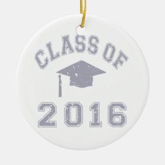 Class Of 2016 Graduation - Grey Christmas Tree Ornament