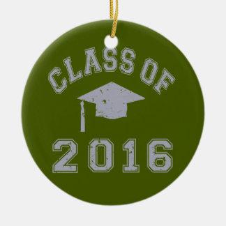 Class Of 2016 Graduation - Grey Ornaments