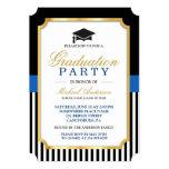 Class of 2016 Graduation Party Gold Ticket Stripes 13 Cm X 18 Cm Invitation Card