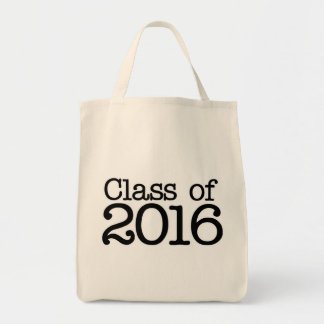 Class of 2016 graduation party grocery tote bag