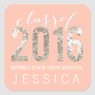 Class of 2016 Graduation Personalized Stickers