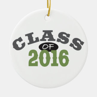 Class Of 2016 Green Round Ceramic Decoration